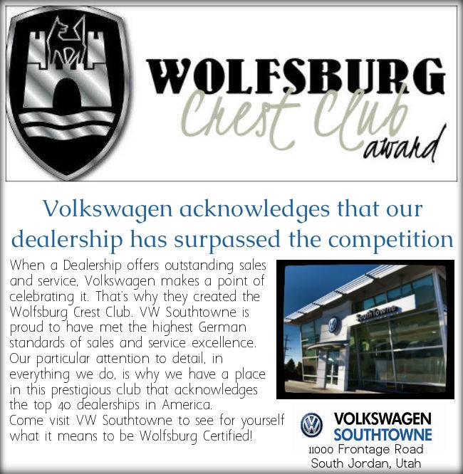 vw, volkswagen, utah vw award, vw car award, utah car sales excellence,