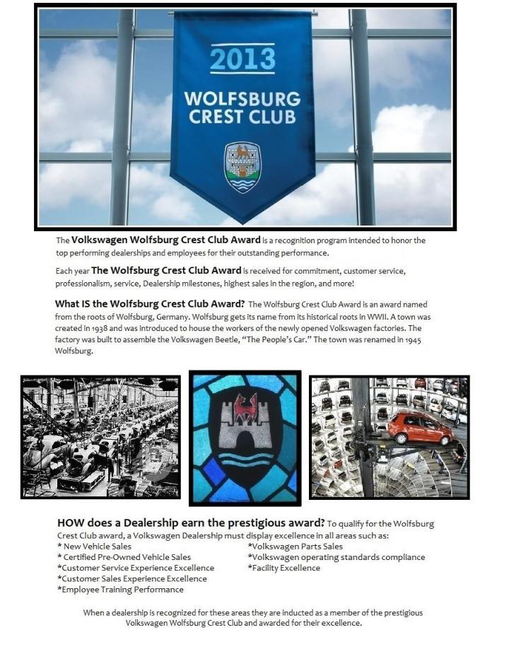 what is wolfsburg crest, wolfsburg award, vw wolfs, vw award, vw utah award