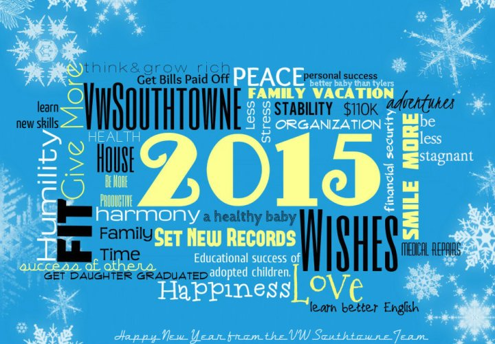 New Year wishes, VW Southtowne sales, vw southtowne service
