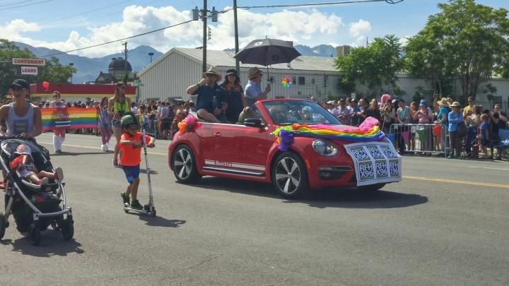 radio from hell utah, utah pride parade, vw utah parade, vw beetle utah