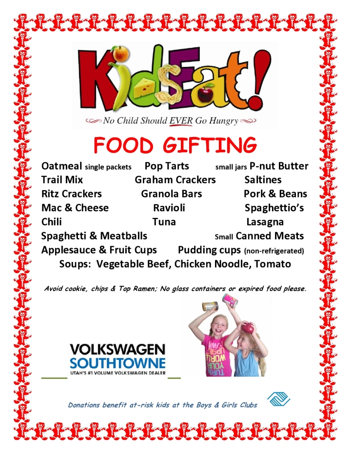 utah food drive, christmas food drive, kids food drive utah