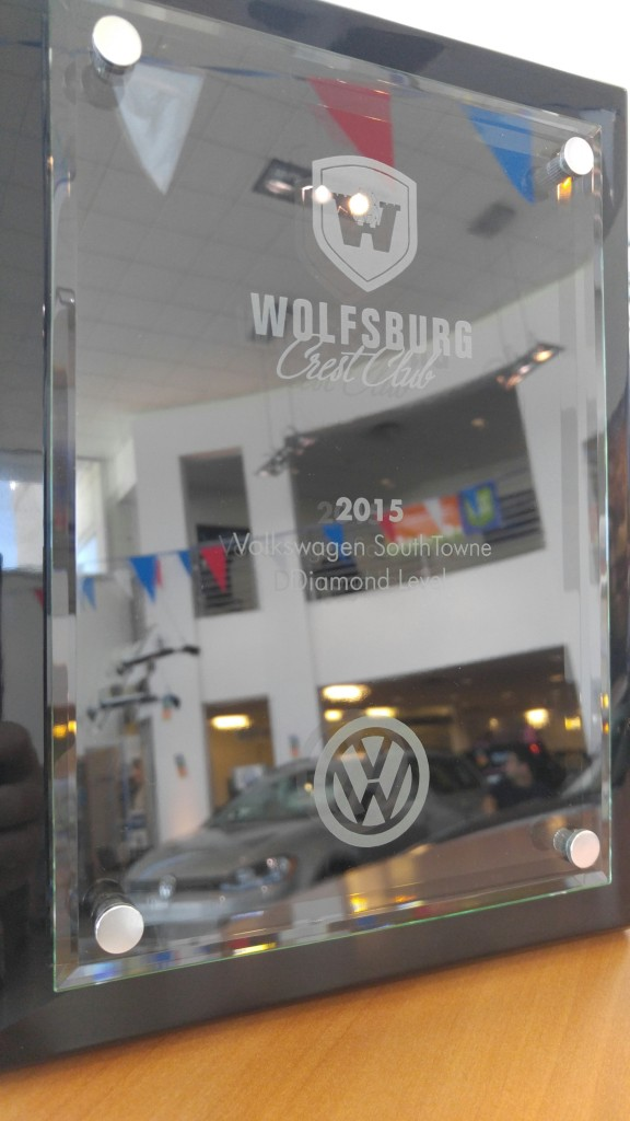 Wolfsburg crest award VW UTAH